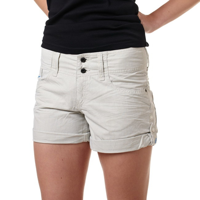 Oxbow shorts, Color: cream white, pebble blue, Material: 100% cotton
