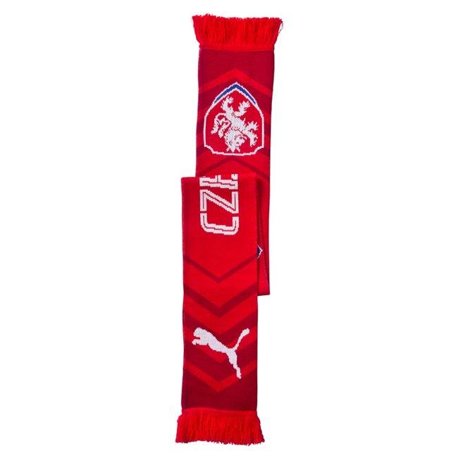 PUMA Men Czech republic Fanscarf, Color: Red, White Material: 100% acrylic