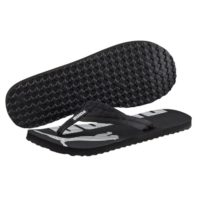 PUMA Epic Flip v2 flip-flops, Color: black, Material: Upper: fabric, Sole: rubber