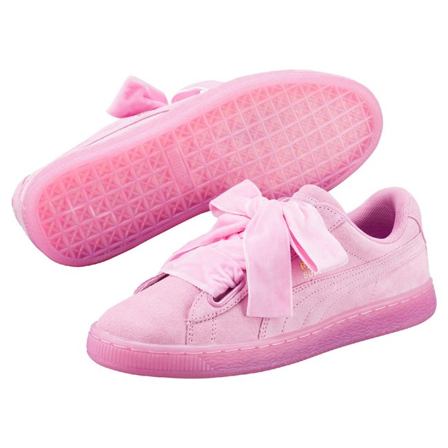 PUMA Suede Heart RESET Wns shoes, Color: pink Material: Upper: synthetic leather, Sole: rubber