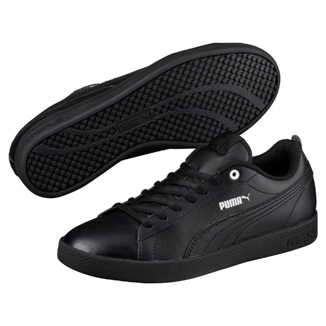 PUMA Smash Wns v2 L women shoes, Colour: black, black, Material: Upper: synthetic leather, Sole: rubber