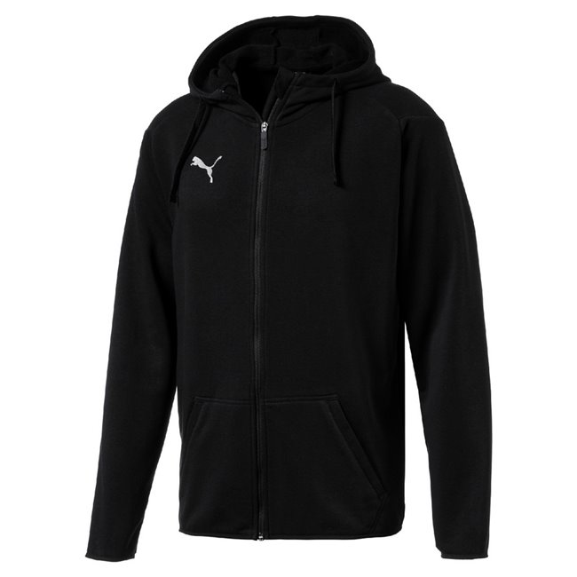 PUMA LIGA Casual hoodie, Color: black Material: 68% cotton 32% polyester