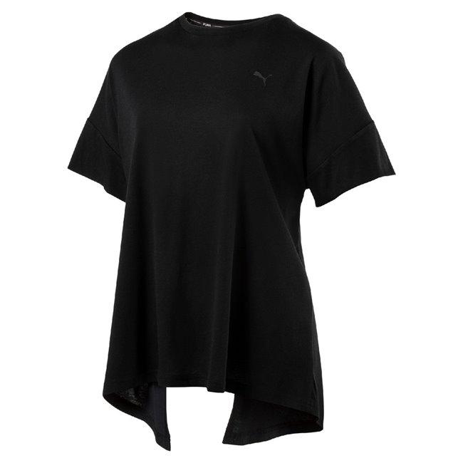 PUMA Evo Tee Women T-Shirt, Color: black, Material: 60% cotton, 40% modal