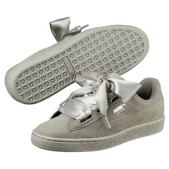 PUMA Suede Heart Pebble wns women shoes, Color: Gray, Material: Upper: leather Midsole: rubber, Sole: rubber