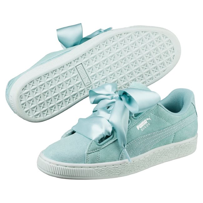 PUMA Suede Heart Pebble wns women shoes, Color: pale green, Material: Upper: Leather, Midsole: Rubber, Sole: Rubber
