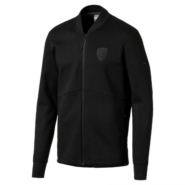 PUMA Ferrari Sweat Jacket men jacket, Color: black, Material: 65% polyester, 35% cotton