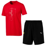 Ferrari T-shirt og shorts