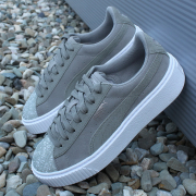 PUMA Suede Platform Pebble women shoes
