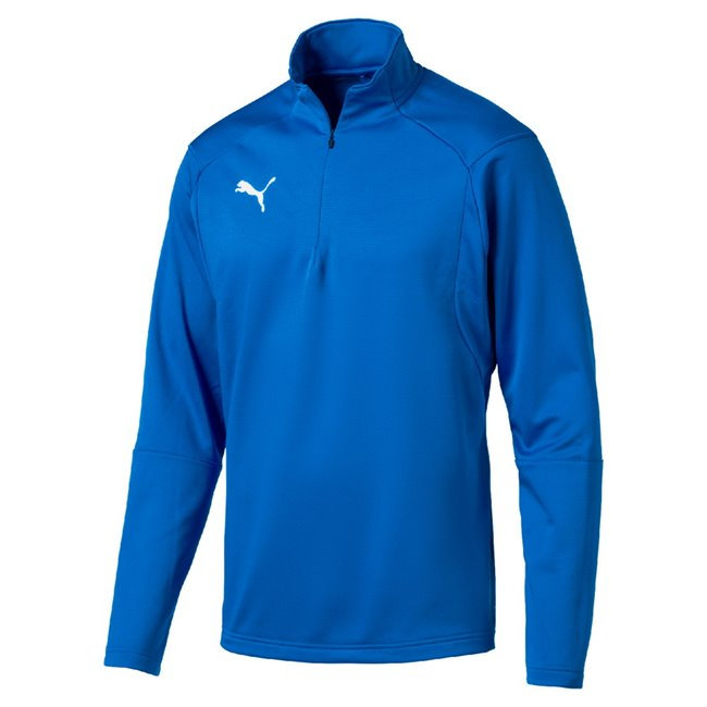 PUMA LIGA Training 1 4 Zip Top T-shirt, Color: Blue, Material: N / A