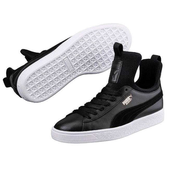 0e0509f63b31 PUMA Basket Fierce wns women shoes, Color: Black Material: Upper: leather  Midsole