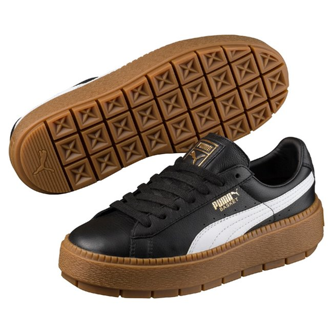 PUMA Platform Trace L wns women shoes, Color: Black Material: Upper: leather Midsole: rubber, Sole: rubber