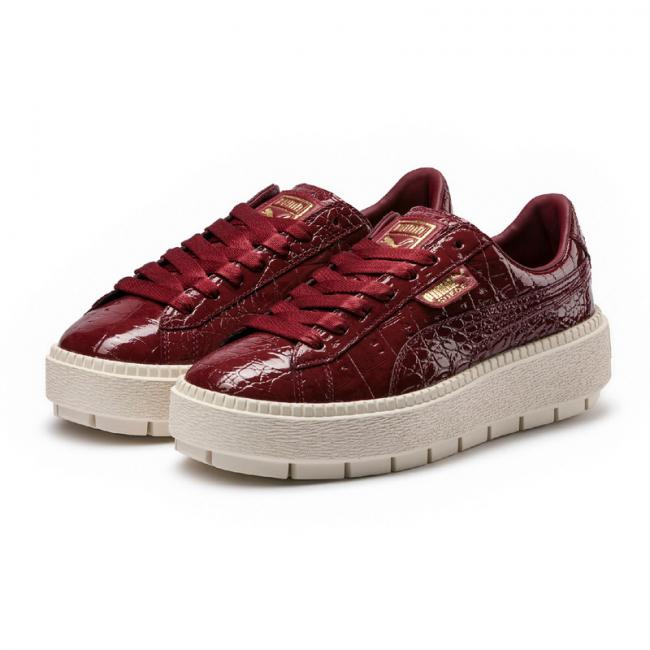 PUMA Platform Trace ExoticLuxwns dámské boty, Barva: světle oranžová, světle oranžová, Materiál: Svršek: kůže, Mezipodešev: EVA, Podešev: guma