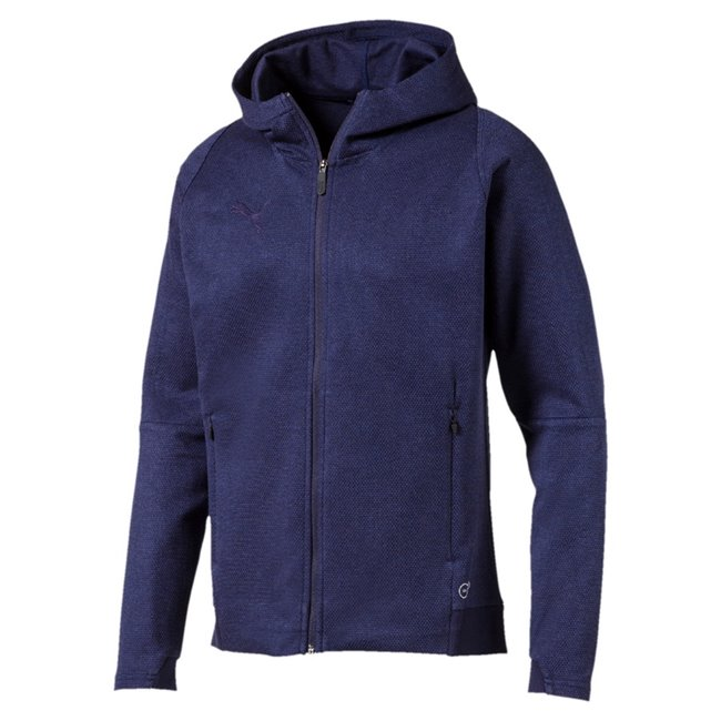 PUMA FINAL Casuals Hooded Jacket men sweatshirt, Color: dark blue Material: 80% cotton, 20% polyester