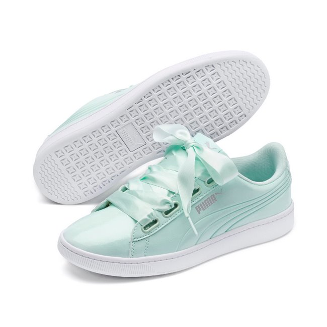 68f8f273d1 PUMA Vikky v2 Ribbon P women shoes, Color: turquoise, Material: Synthetic  fibers