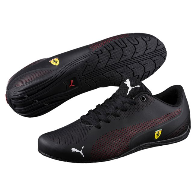 Ferrari SF Drift Cat 5 Ultra shoes, Color: Black, Ferrari Red, Black, Material: Upper: Synthetic Leather, Midsole: EVA, Sole: Rubber