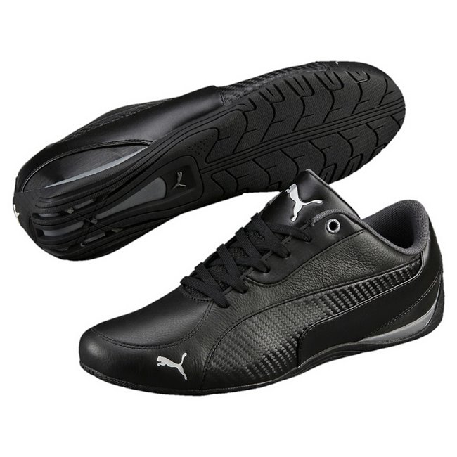 PUMA Drift Cat 5 Carbon shoes, Color: black, Material: Upper: Synthetic leather, Sole: Rubber