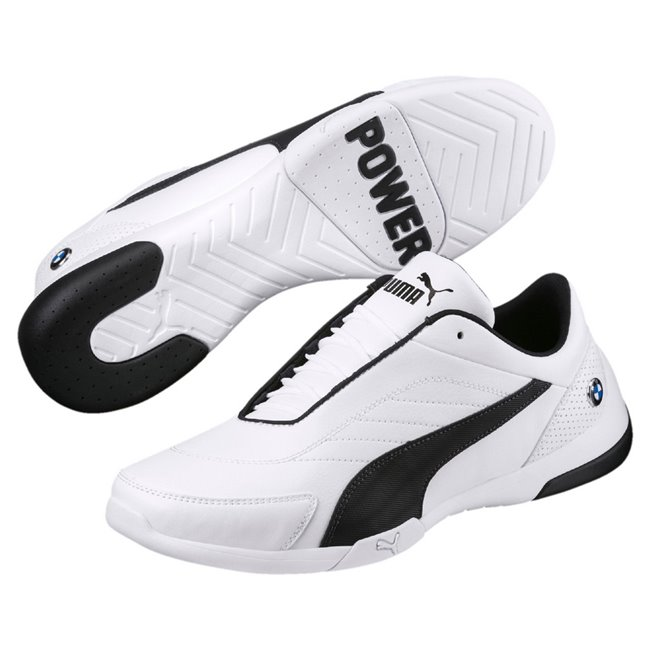BMW MMS Kart Cat III men shoes, Color: White, Gray, Material: Upper: Synthetic Leather, Midsole: EVA, Sole: Rubber