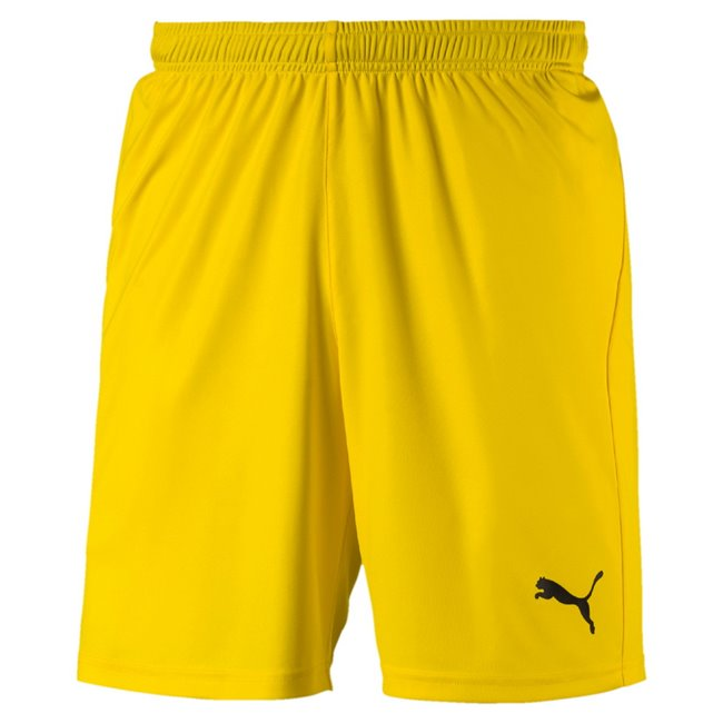 PUMA LIGA Core shorts, Color: yellow Material: 100% polyester