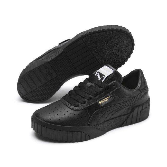 d8487b13b38 PUMA Cali scarpe da donna, Colore: nero, Materiale: pelle
