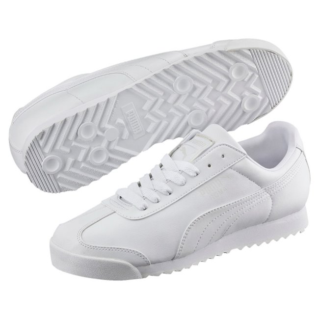 PUMA Roma Basic men shoes, Color: white, Material: leather