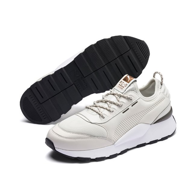 PUMA RS-0 TROPHY shoes, Color: gray, Material: Textile