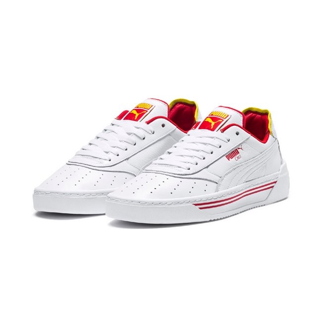 PUMA Cali-0 Drive Thru CC shoes, Color: white, Material: leather