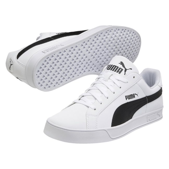 PUMA Smash Vulc shoes, Color: white, Material: Synthetic leather