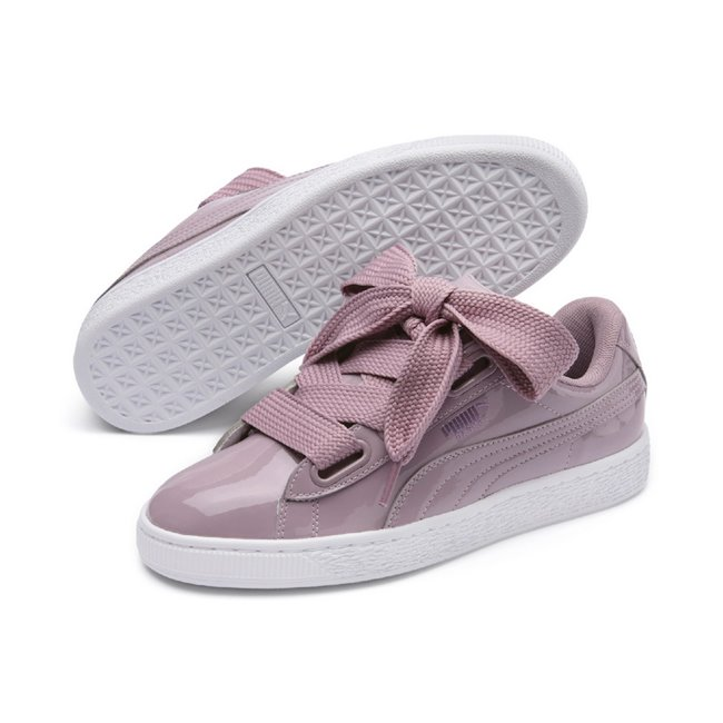 259e3261cf8441 PUMA Basket Heart Patent Wns women shoes, Color: pale pink, Material:  Synthetic