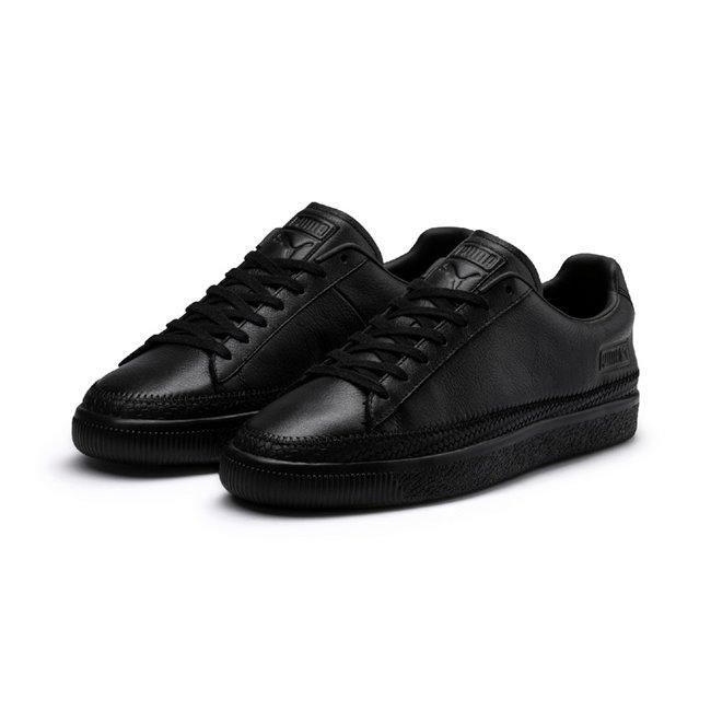 PUMA Basket Trim shoes, Color: black, Material: leather