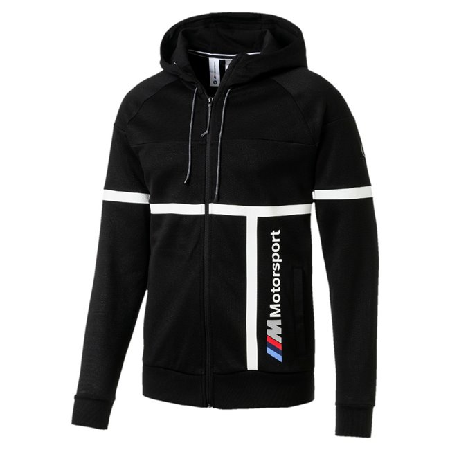 <p>BMW MMS Hooded Sweat Jacket, Color: black, Material: cotton, polyester</p>
