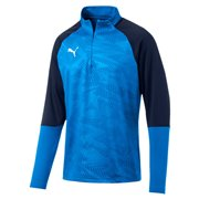 PUMA CUP Training 1 4 Zip T Core sweatshirt, Color: Blue, Material: 100% polyester