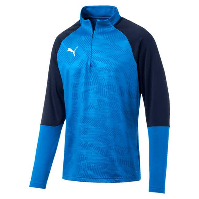 PUMA CUP Training 1 4 Zip T Core sweatshirt, Color: Blue, Material: N / A