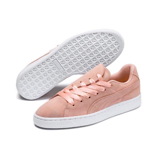 PUMA Suede Crush Wns dámské boty, Barva: broskvová, Materiál: kůže