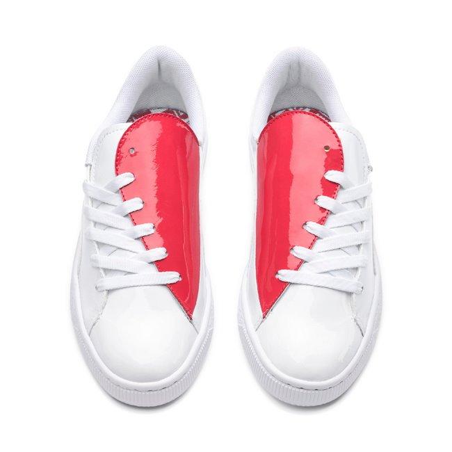 PUMA Basket Crush Wns dámské boty, Barva: bílá, Materiál: syntetická vlákna