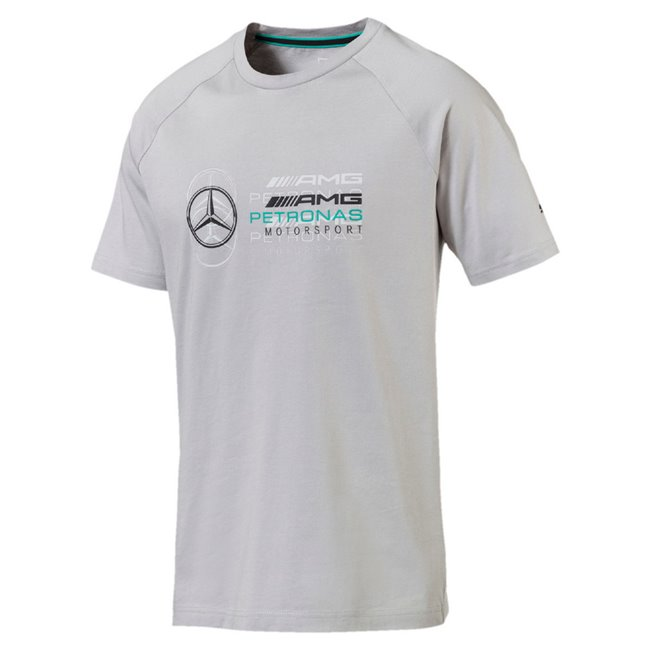 Mercedes MAPM Logo Tee, Color: mercedes silver, Material: 100% cotton