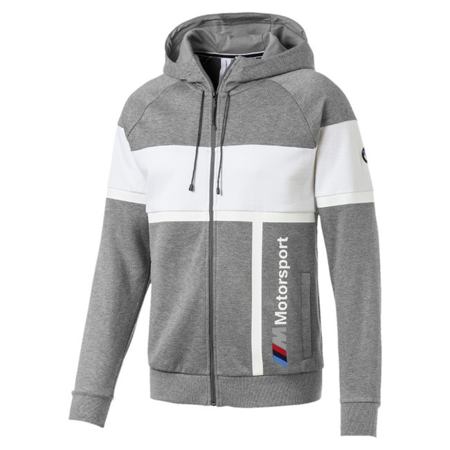 <p>BMW MMS Hooded Sweat Jacket, Color: gray, Material: cotton, polyester</p>