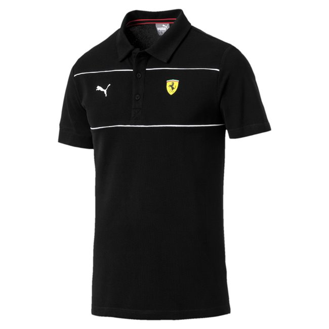 Ferrari SF Polo, Color: black, Material: 100% cotton