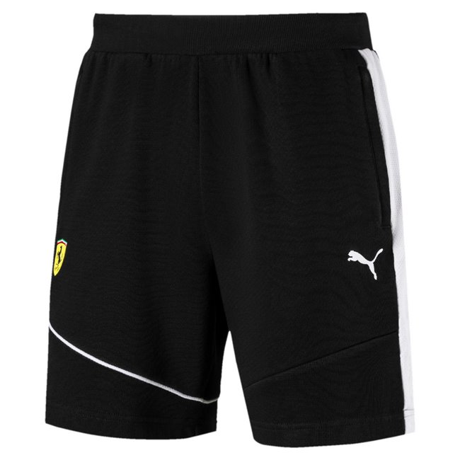 Ferrari SF Sweat Shorts, Color: black, Material: cotton, polyester
