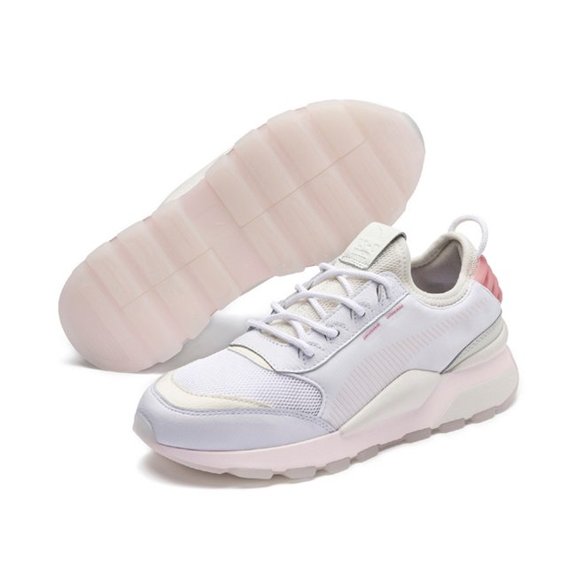 PUMA RS-0 TRACKS shoes, Color: white, Material: Textile