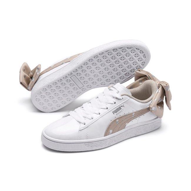 d14b4cd15 PUMA Basket Bow Dots dámské boty, Barva: bílá, Materiál: syntetická vlákna