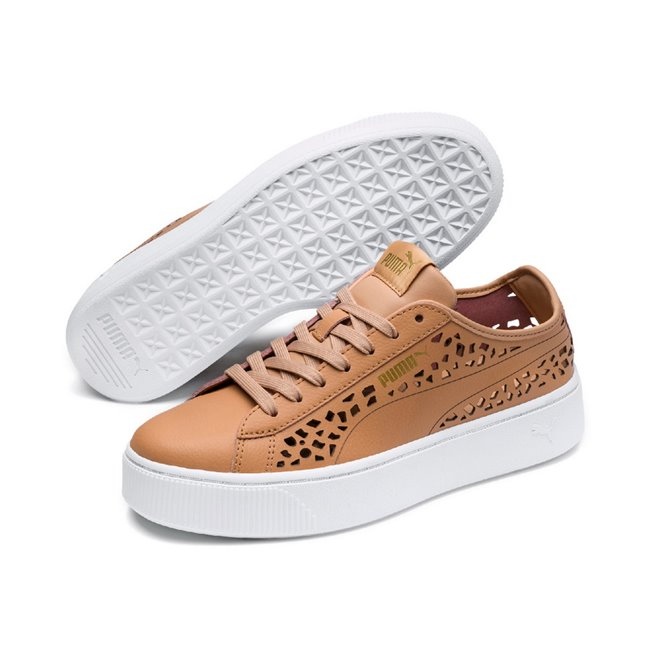 PUMA Vikky Stacked Laser Cut women shoes, Color: NA, Material: synthetic leather
