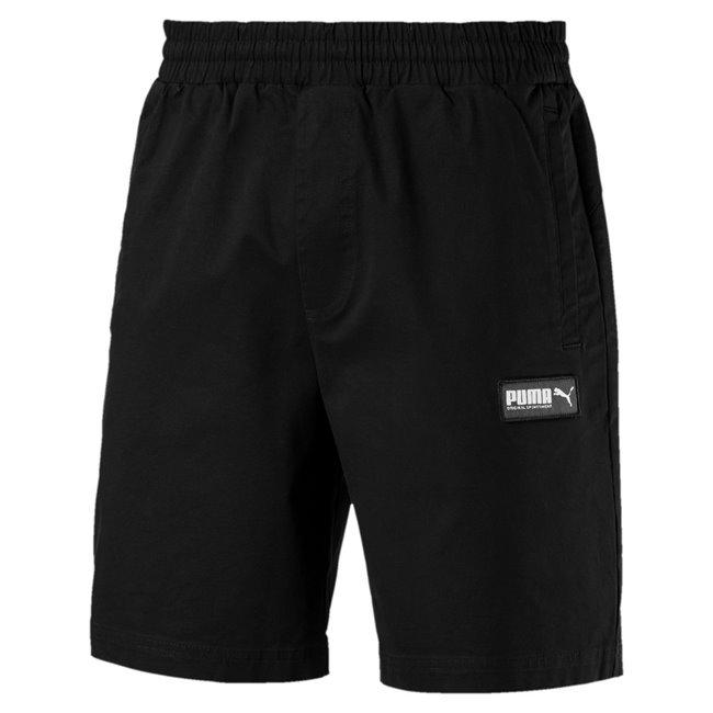 PUMA Fusion Twill Shorts 8, Color: black, Material: cotton, elastane