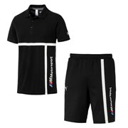 BMW T-shirt and shorts, T-Shirt: Color: Black, Material: 100% cotton, Shorts: Color: Black, Material: cotton, polyester