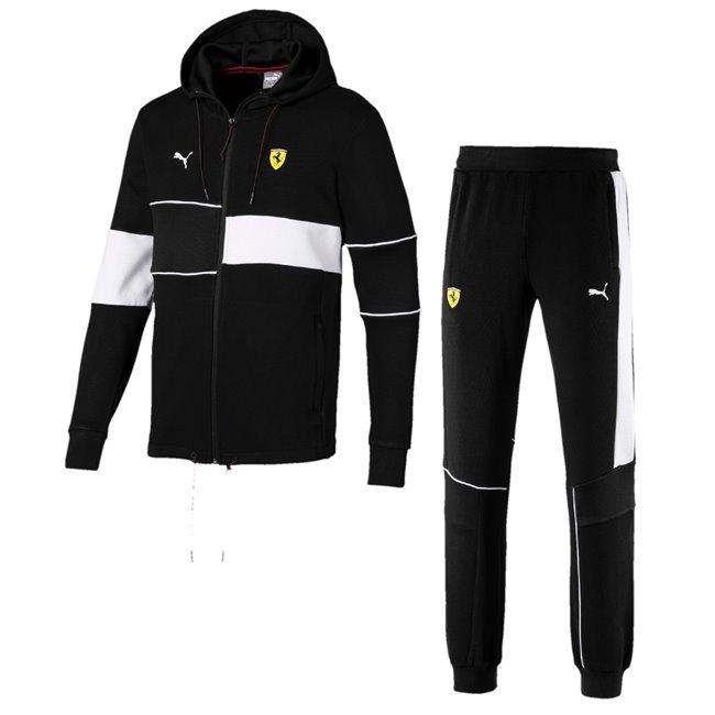 Ferrari Sweatshirt and pants, Sweatshirt: Color: Black, Material: cotton, polyester, Trousers: Color: Black, Material: cotton, polyester