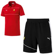 Ferrari T-shirt and shorts