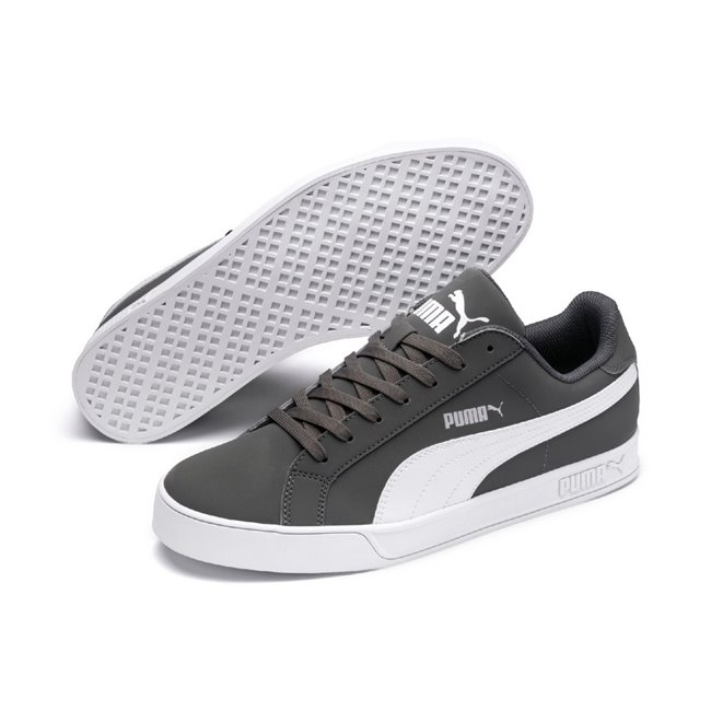 PUMA Smash Vulc shoes, Color: dark gray, Material: Synthetic leather