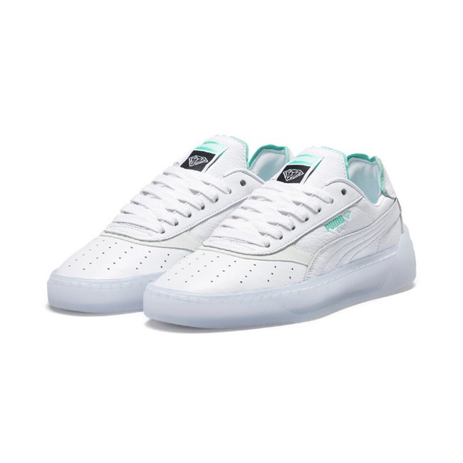 PUMA Cali-0 DIAMOND SUPPLY shoes, Color: white, Material: leather