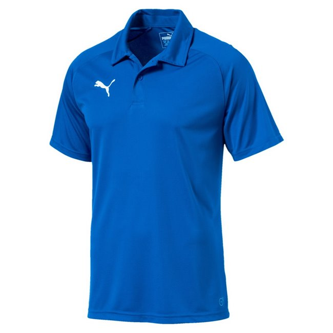 PUMA LIGA Sideline Polo men T-Shirt, Colour: blue, white, Material: polyester