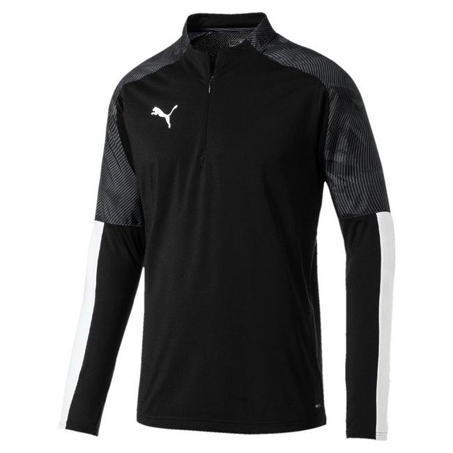 PUMA CUP Training 1 4 Zip Top sweatshirt, Color: black, Material: N / A