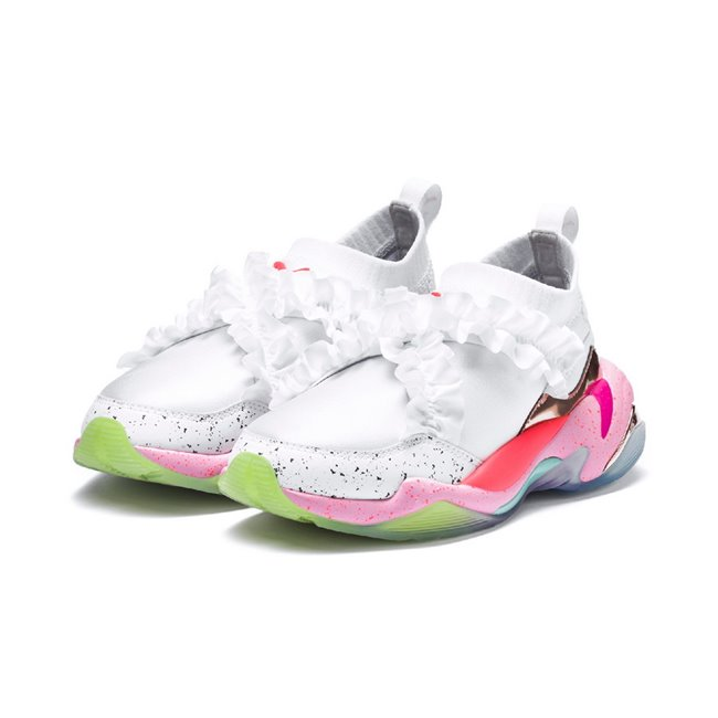 PUMA Thunder SOPHIA WEBSTER women shoes, Color: white, Material: fabric